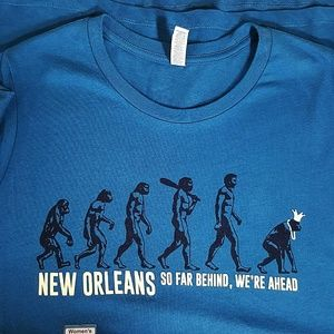 New Orleans Evolution T Shirt Sz XL GRAPHIC TEE